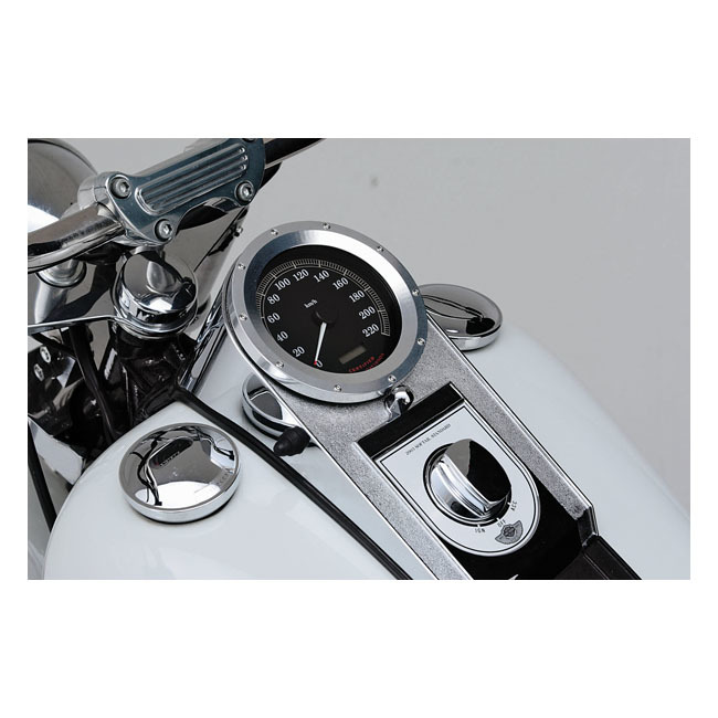 MCS エムシーエス その他メーター関連 ALU BEZEL FOR SOFTAIL SPEEDO COLOR:SILVER 84-17 Softail