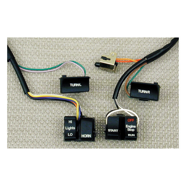 """MCS エムシーエス ハーネス H.BAR WIRE HARNESS & SWITCH KIT 82-95 B.T. XL (NU) 42"""" LONG"""