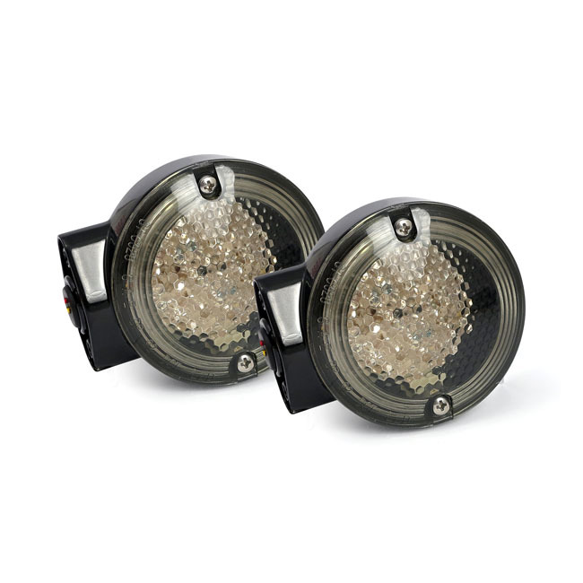 MCS エムシーエス ウインカー FLH LED TURNSIGNAL COLOR:GLOSSBLACK 86-15 FLT/TOURING (EXCL. FLHX FLHRS)