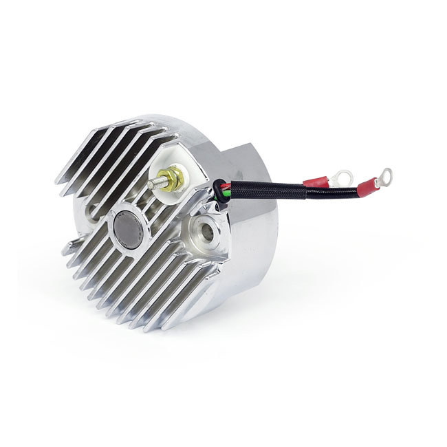 MCS エムシーエス その他電装パーツ ELECTRONIC REGULATOR 12V FINNED COLOR:CHROME 65-69 B.T.; 65-77 XL(NU)