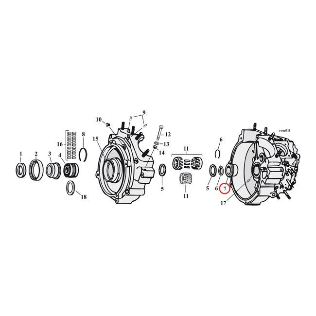 MCS エムシーエス その他エンジンパーツ クランクケースブッシングピニオンシャフト【BUSH CRANK PINION SHAFT】 58-99 B.T.(NU)(EXCL. TC)