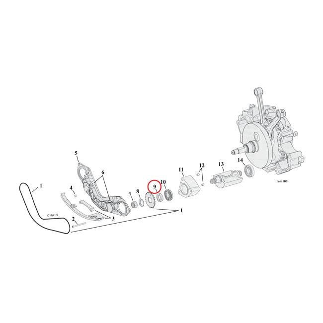 エンジンパーツ 00-06 TCB(NU) MCS エムシーエス 981242  MCS エムシーエス その他エンジンパーツ スペーサーバランサースプロケット【SPACER BALANCER SPROCKET】 SIZE:0.130 INCH 00-06 TCB(NU)