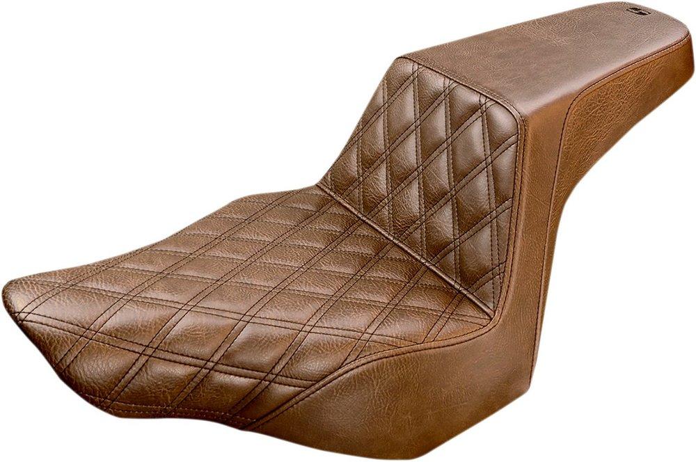 SADDLEMEN サドルメン シート本体 SEAT STEP UP DVRLS BR [0802-0986] FXSB