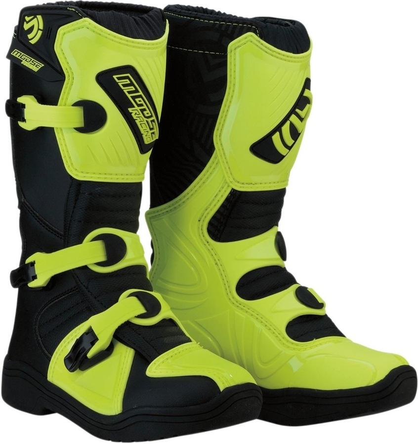 MOOSE RACING ムースレーシング オフロードブーツ ブーツ S18Y M1.3 ブラック/HIVZ【BOOT S18Y M1.3 BK/HIVZ】 サイズ:4 [3411-0447]