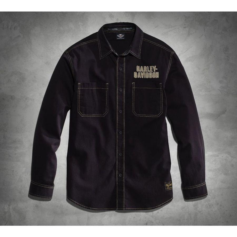 HARLEY-DAVIDSON ハーレーダビッドソン カジュアルウェア メンズ 純正クラシック EAGLE ウーブンシャツ【Men's Genuine Classics Eagle Woven Shirt】 SIZE:M