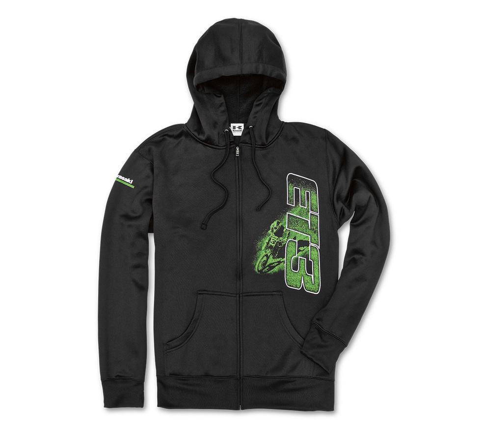 US KAWASAKI 北米カワサキ純正アクセサリー カジュアルウェア ET3 Thicker Than Dirt Zip Up スウェットシャツ【ET3 Thicker Than Dirt Zip Up Sweatshirt】 SIZE:XL