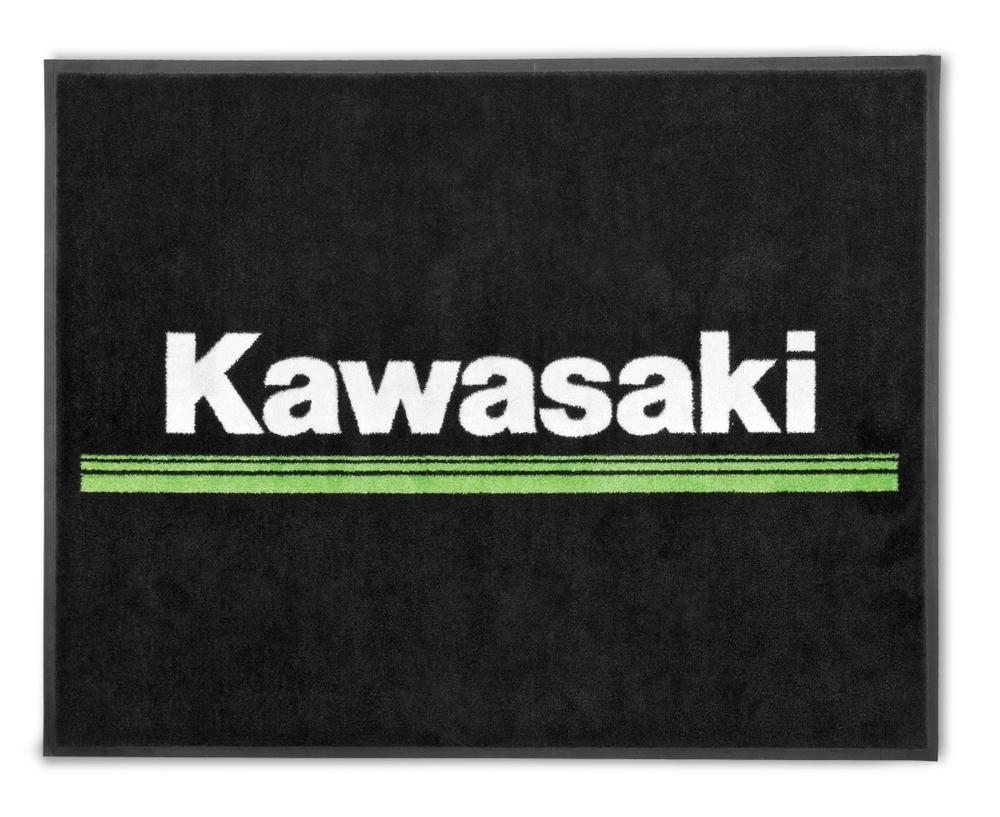 US KAWASAKI 北米カワサキ純正アクセサリー その他グッズ 3 Green Lines Floor Mat