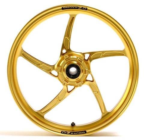 OZレーシング ホイール本体 OZ-5S PIEGA アルミ鍛造ホイール カラー:マットブラックアルマイト GSX1300R ハヤブサ(隼)