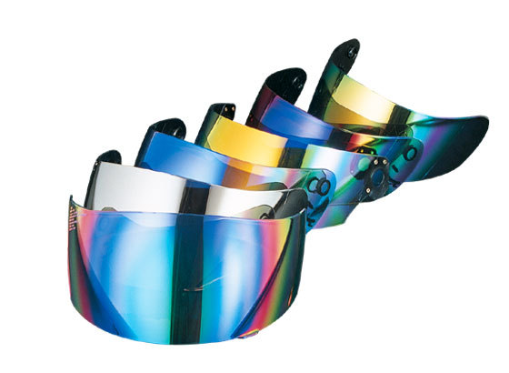 SKY エスケーワイ シールド・バイザー チタンUVシェルター ミラーシールド CWR-1 シールドベース色:スモーク/チタンコーティング色:チタンブルー Z-7