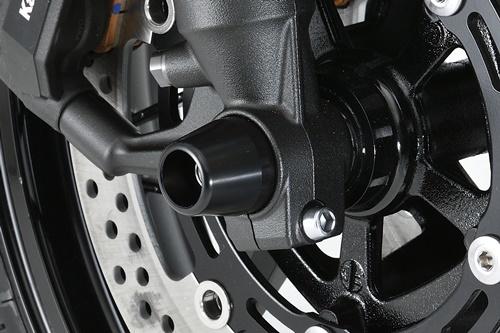AGRAS アグラス ガード・スライダー フロントアクスルプロテクター コーンタイプ カラー:ブルー Z900RS
