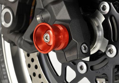 AGRAS アグラス ガード・スライダー フロントアクスルプロテクター ファンネルタイプ カラー:シルバー Z900RS
