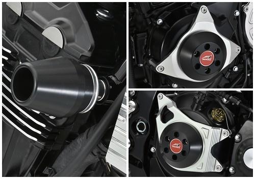 AGRAS アグラス ガード・スライダー レーシングスライダー 4点セット カラー:ブラック Z900RS