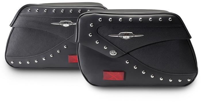 US SUZUKI 北米スズキ純正アクセサリー サドルバッグ・サイドバッグ スタッドツーリングサドルバッグ (Studded Touring Saddlebags)