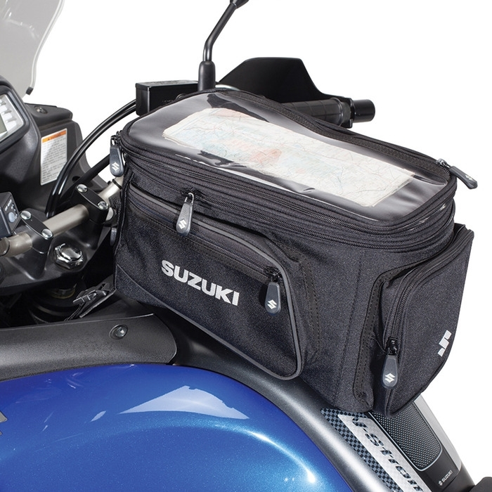 US SUZUKI 北米スズキ純正アクセサリー エックスパンダバルタンクバッグ (Expandable Magnetic Tank Bag)