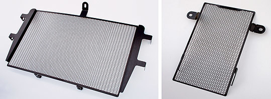 MotoCrazy モトクレイジー コアガード ラジエター&オイルクーラガード上下セット カラー:ブラック(ステンレス黒染め仕上げ) SUPERSPORT 939