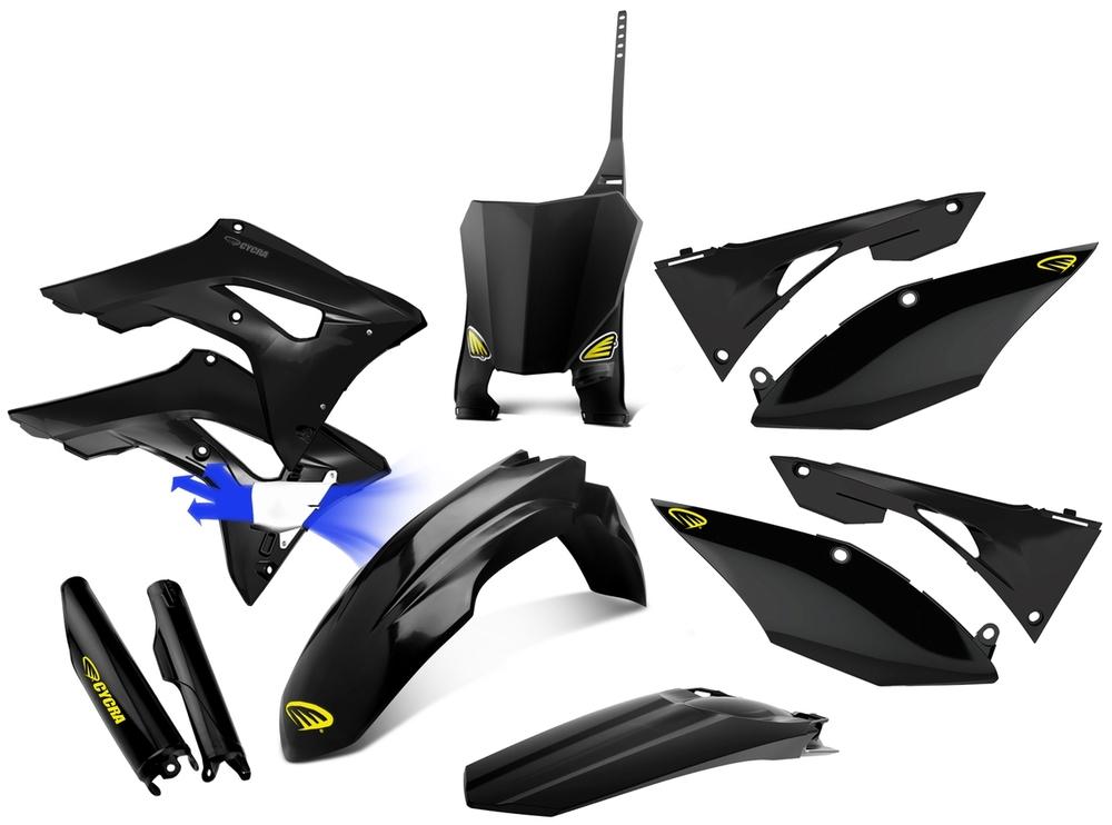 CYCRA サイクラ フルカウル・セット外装 パワーフローインテークラジエターボディキット カラー:ブラック CRF250 R 18 CRF450 R 17-18
