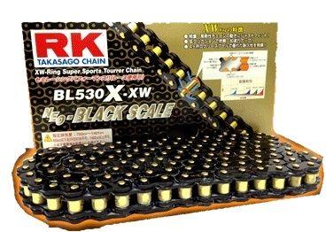 【イベント開催中!】 RK アールケー TAKASAGO CHAIN BLブラックスケールシリーズチェーン BL530X-XW リンク数:118