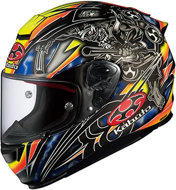 OGK KABUTO オージーケーカブト フルフェイスヘルメット RT-33 AKIYOSHI [アールティ・サンサン アキヨシ フラットブラックイエロー] ヘルメット サイズ:S