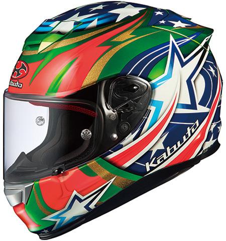 OGK KABUTO オージーケーカブト フルフェイスヘルメット RT-33 ACTIVE STAR [アールティ・サンサン アクティブスター グリーン] ヘルメット サイズ:L