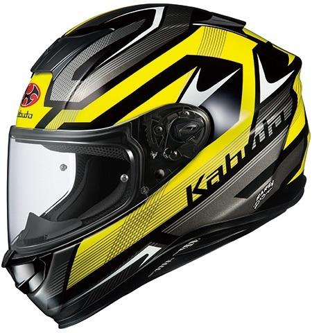 OGK KABUTO オージーケーカブト フルフェイスヘルメット AEROBLADE-5 RUSH [エアロブレード・ファイブラッシュ] フラットブラックイエロー ヘルメット サイズ:M