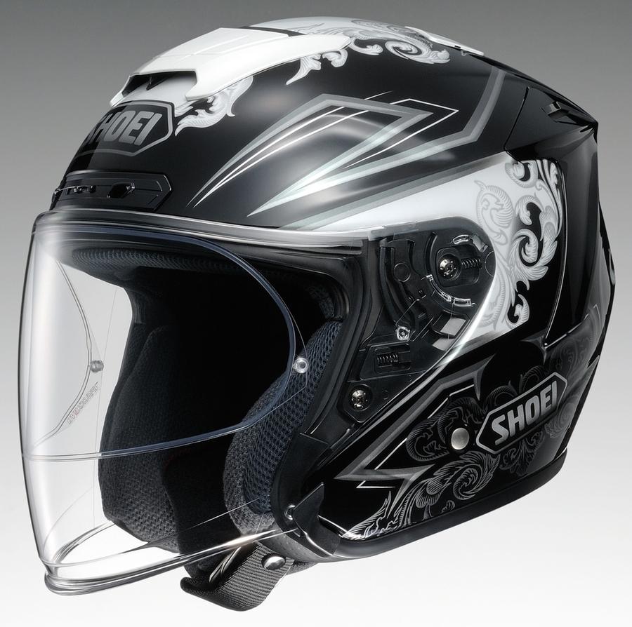 SHOEI ショウエイ ジェットヘルメット J-FORCE IV REFINADO [ジェイ-フォースフォー レフィナード TC-5 WHITE/BLACK] ヘルメット サイズ:S (55cm)