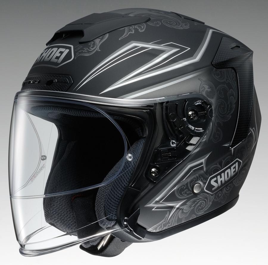 SHOEI ショウエイ ジェットヘルメット J-FORCE IV REFINADO [ジェイ-フォースフォー レフィナード TC-10 SILVER/BLACK] ヘルメット サイズ:XS (53cm)