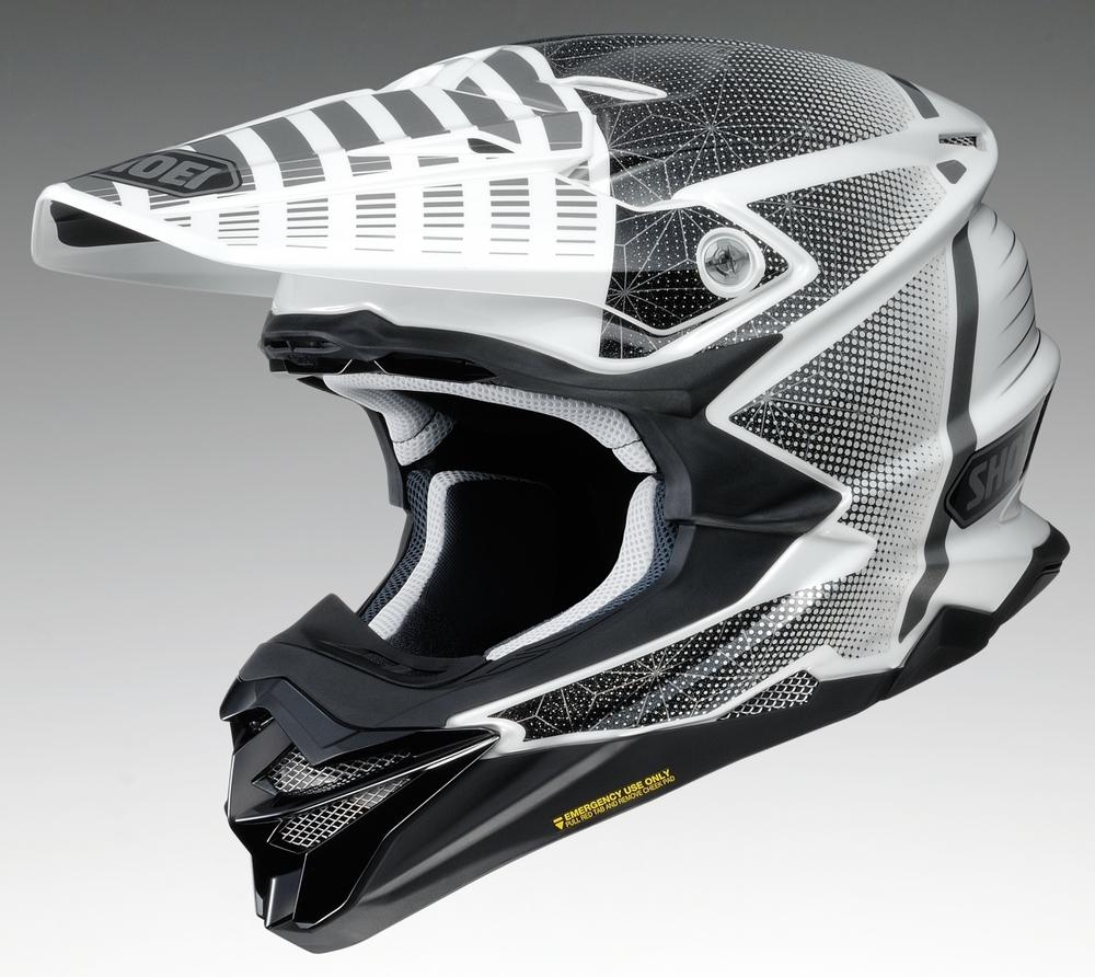 SHOEI ショウエイ オフロードヘルメット VFX-WR BLAZON [ブイエフエックス-ダブリューアール ブラゾン TC-6 WHITE/BLACK] ヘルメット サイズ:XL (61cm)