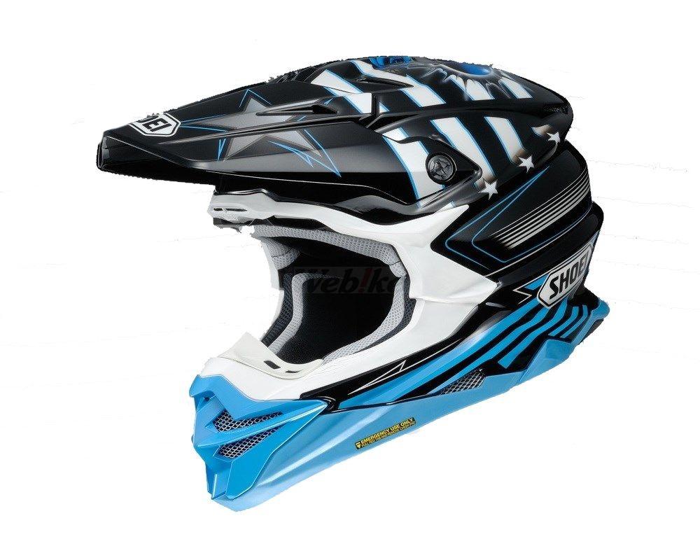 SHOEI ショウエイ オフロードヘルメット VFX-WR GRANT3 [ブイエフエックス-ダブリューアール グラント3 TC-2 BLUE/BLACK] ヘルメット サイズ:XL (61cm)