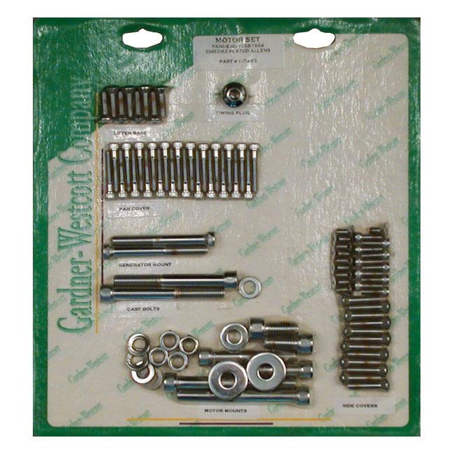 GARDNER-WESTCOTT ガードナーウエストコット エンジンスクリューセット アレン【MOTOR SCREW SET ALLEN】 58-64 PAN (NU) (SHORT BOLTS FOR STEEL D-RINGS)