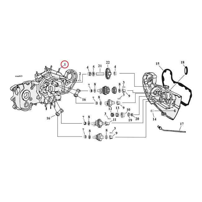 GARDNER-WESTCOTT ガードナーウエストコット その他エンジンパーツ シリンダーベーススタッド【CYLINDER BASE STUDS】 72-85 XL(NU)