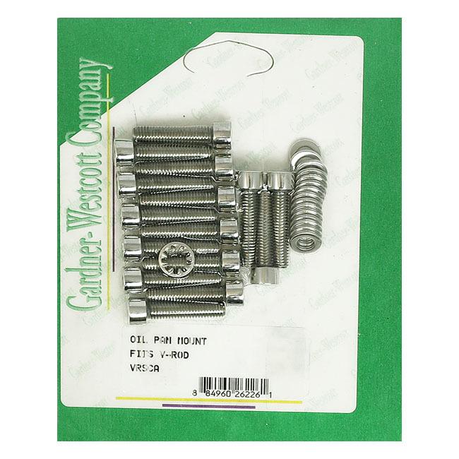 GARDNER-WESTCOTT ガードナーウエストコット オイルポンプ・フィラーキャップ・オイル関連パーツ オイルパンマウントセット【OIL PAN MOUNT SET】 02-17 V-Rod