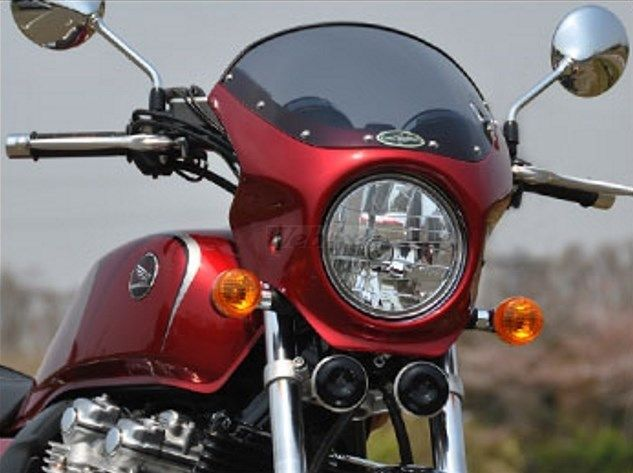 CHIC DESIGN シックデザイン ビキニカウル・バイザー ロードコメット カラー:パールグレアホワイト(ストライプ) スクリーンカラー:クリア CB1100 14-/EX 14-16