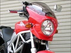 CHIC DESIGN シックデザイン ビキニカウル・バイザー ロードコメット2 カラー:パールフェイドレスホワイト スクリーンカラー:クリア VTR250