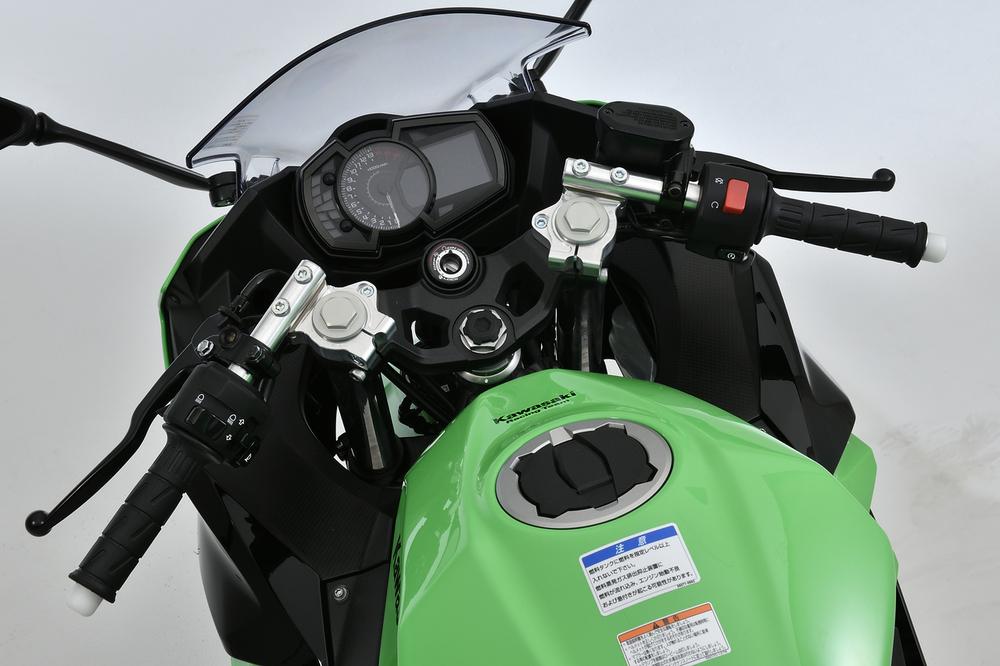 OVER オーヴァー スポーツライディング ハンドルキット カラー:シルバーアルマイト仕上げ Ninja250 (18)