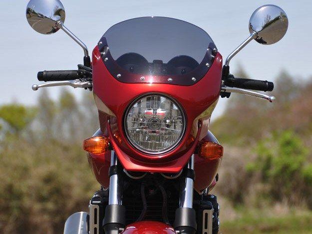 CHIC DESIGN シックデザイン ビキニカウル・バイザー ロードコメット2 カラー:チタニウムブレードM/Cプロミネンスレッド(16-) スクリーンカラー:クリア CB400スーパーフォア