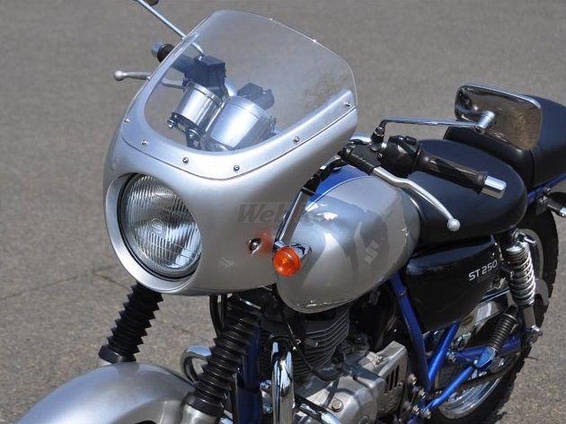 CHIC DESIGN シックデザイン ビキニカウル・バイザー ロードコメット クラシック カラー:キャンディソノマレッド スクリーンカラー:スモーク ST250 ST250 Eタイプ