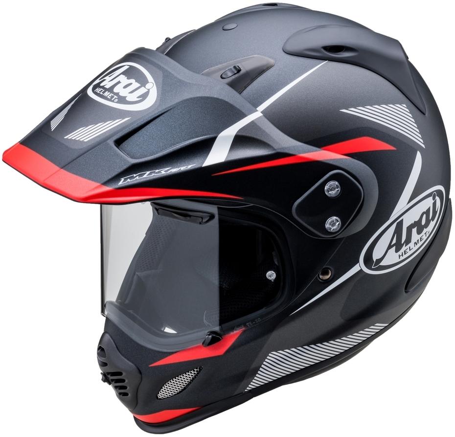 Arai アライ オフロードヘルメット TOUR-CROSS3 BREAK [ツアークロス3 ブレイク ブラック/レッド] ヘルメット サイズ:L(59-60cm)