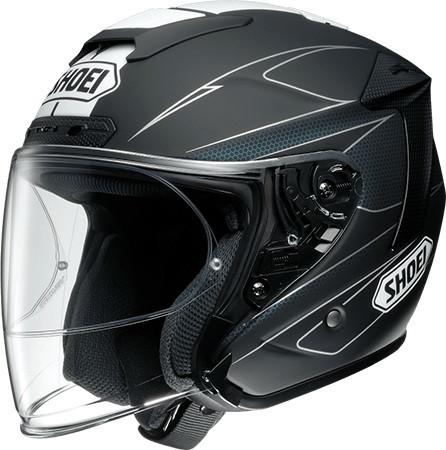 【在庫あり】SHOEI ショウエイ ジェットヘルメット J-FORCE IV MODERNO [ジェイ-フォース フォー モデルノ TC-5 BLACK/WHITE マットカラー] ヘルメット サイズ:XS (53cm)