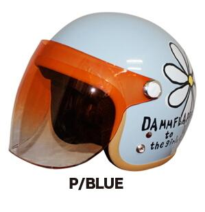 DAMMFLAPPER ダムフラッパー ジェットヘルメット フラワージェット カラー:P/ブルー
