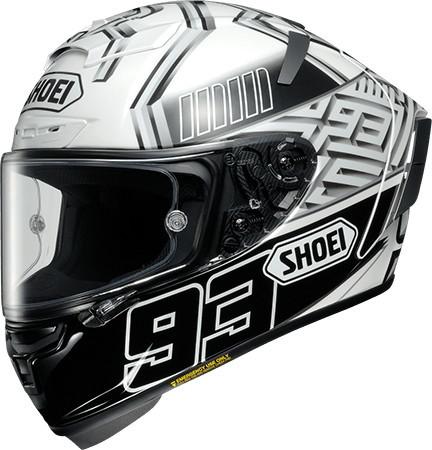 SHOEI ショウエイ フルフェイスヘルメット X-14 MARQUEZ4 [X-FOURTEEN エックス-フォーティーン マルケス4 TC-6 WHITE/BLACK] ヘルメット サイズ:XXL (63-64cm)