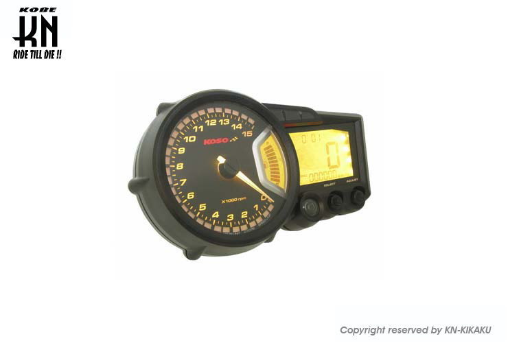 KOSO コーソー RX2+ LCDマルチメーター バックライト8色 汎用