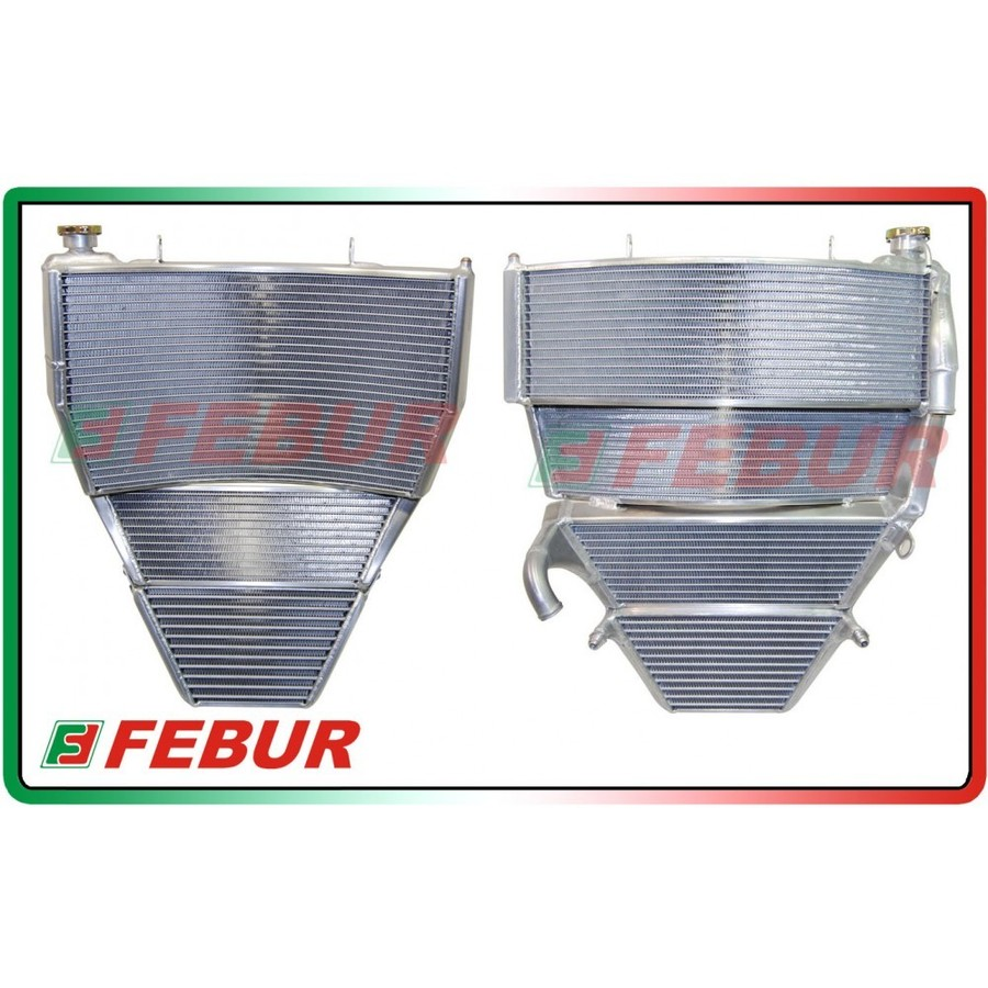 FEBUR フェバー ラジエーター本体 レーシングラジエーター&オイルクーラーセット GSX-R 1000 2005-2006