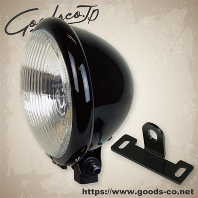 GOODS グッズ ヘッドライト本体・ライトリム/ケース 5-3/4ベイツライトキット 本体カラー:ブラック ドラッグスター 250 ドラッグスター400