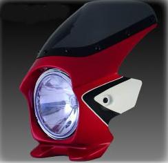 N PROJECT Nプロジェクト エヌプロジェクト ビキニカウル・バイザー ブラスターII エアロスクリーン カラー:パールヘロンブルー(ツートン/複色仕上げ) CB400スーパーフォア