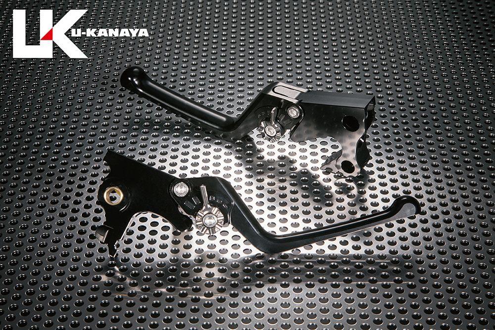 U-KANAYA ユーカナヤ ストリートタイプ アルミビレットレバーセット アジャスターカラー:チタンカラー レバーカラー:ブラック VRSCA V-ROD VRSCAW V-ROD VRSCX V-ROD