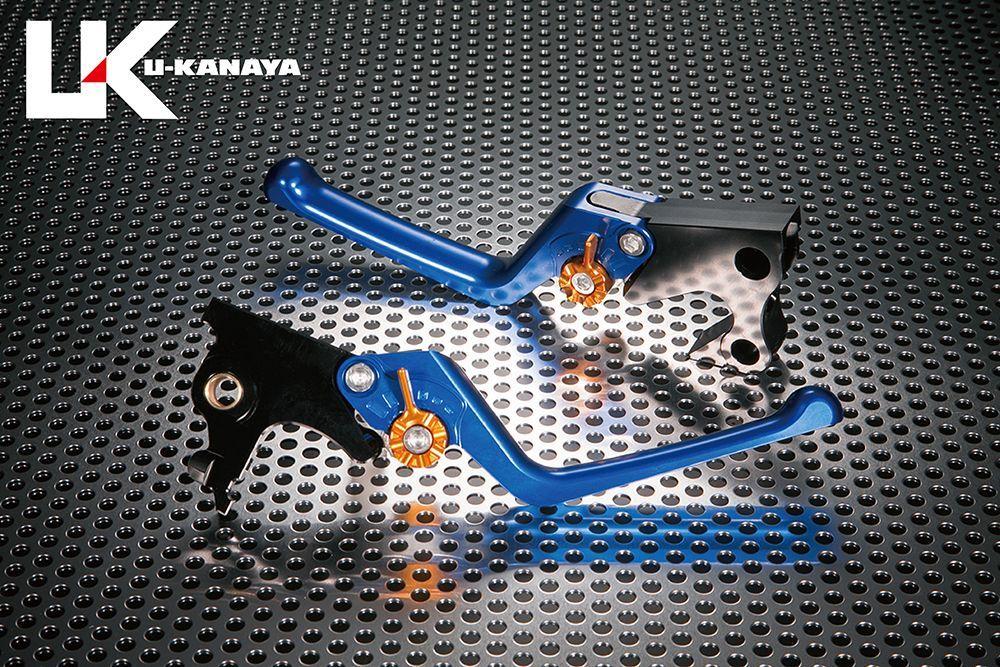 U-KANAYA ユーカナヤ ストリートタイプ アルミビレットレバーセット アジャスターカラー:ゴールド レバーカラー:ブルー SOFTAIL SLIM