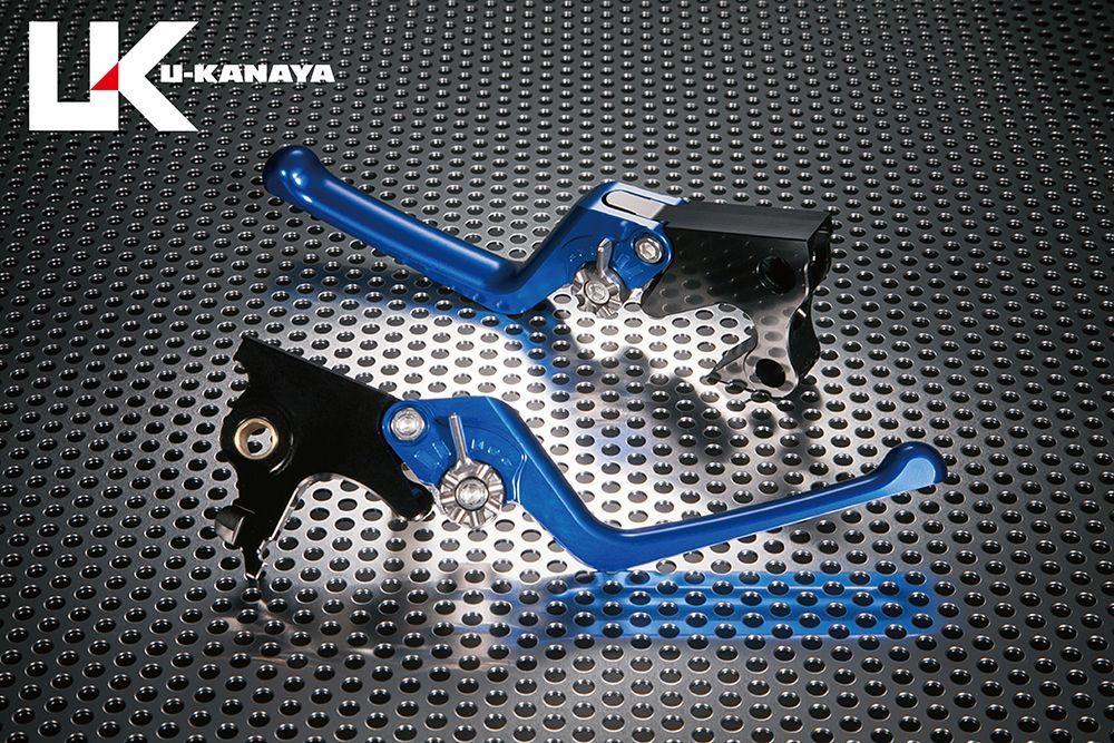 U-KANAYA ユーカナヤ ストリートタイプ アルミビレットレバーセット アジャスターカラー:チタンカラー レバーカラー:ブルー VRSCA V-ROD VRSCAW V-ROD VRSCX V-ROD