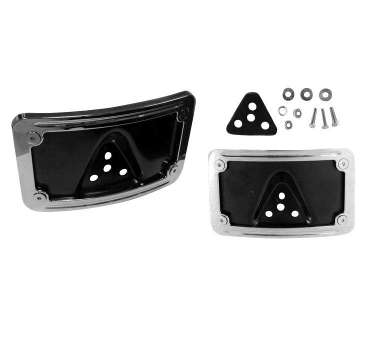 Biker's Choice バイカーズチョイス カーブナンバープレートフレーム (2個セット) 【2-Piece Curved License Plate Frame [482732]】