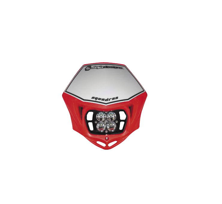 Baja Designs バハデザイン ヘッドライト本体・ライトリム/ケース SQUADRON 汎用LED ヘッドライトキット 【Squadron Universal LED Headlight Kits】 COLOR:Red [564884]