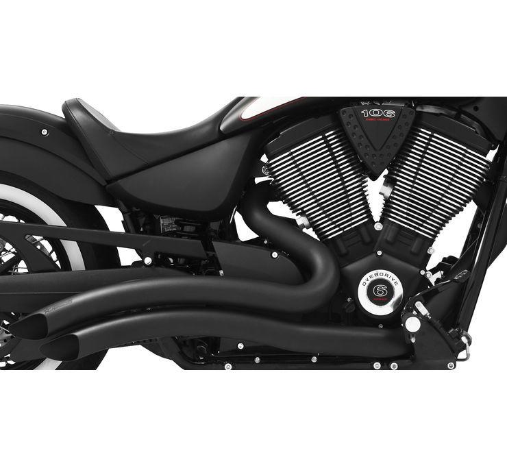 フルエキゾーストマフラー シャープカーブラジアス エキゾーストシステム VICTORYモデル 【Sharp Curve Radius for Victory Models】 Color:Black [473406]